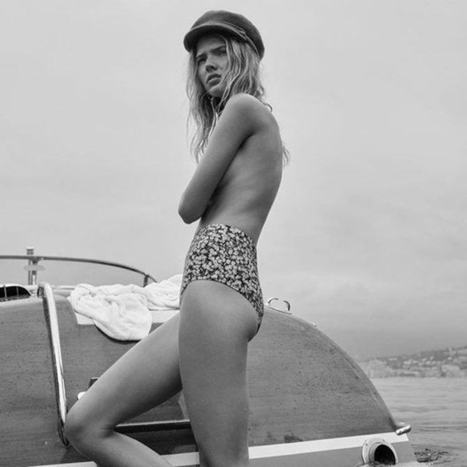 Саша Лусс фотография в купальнике и фуражке