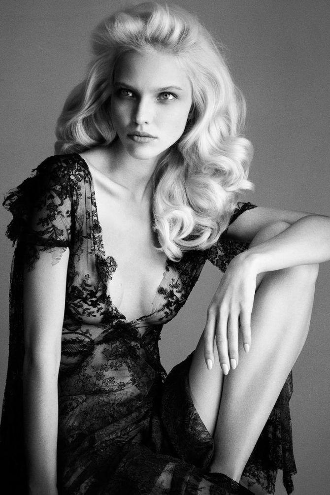 Саша Лусс фотосессия в кружевном платье