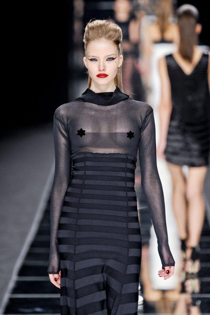 Саша Лусс фотография в чёрном платье