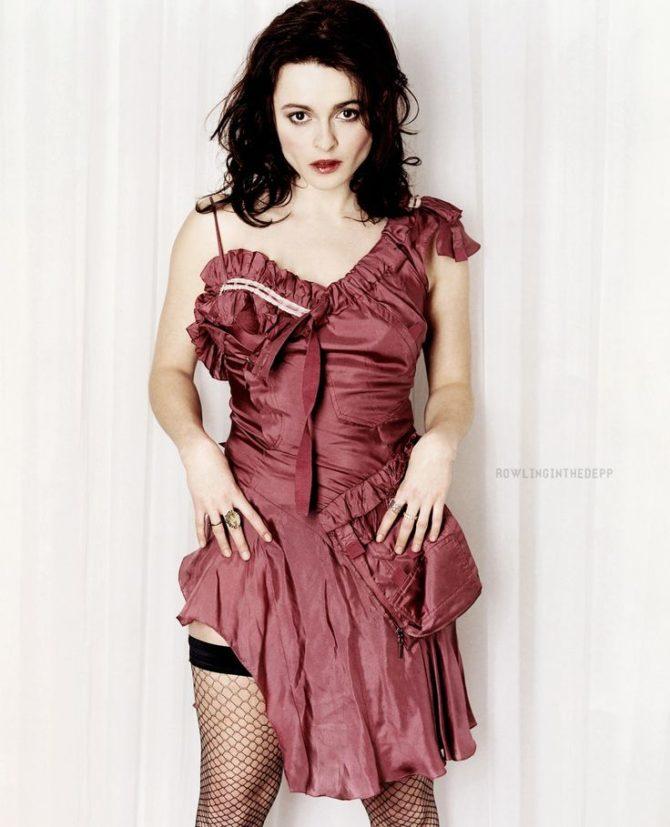 Хелена Бонем Картер фото в красном платье