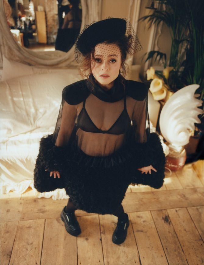 Хелена Бонем Картер фото в прозрачном платье