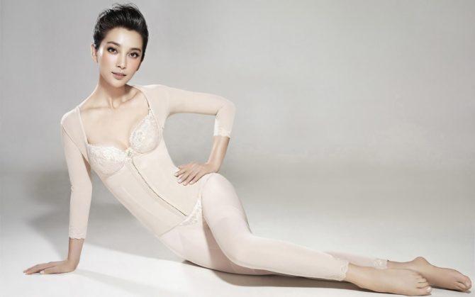 Ли Бинбин фотография в белом белье