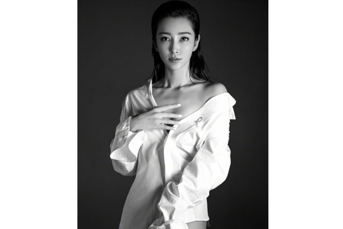 Ли Бинбин фото в белой рубашке